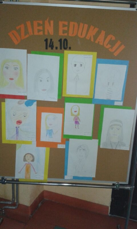 Portrety naszych nauczycieli na Dzień Edukacji Narodowej