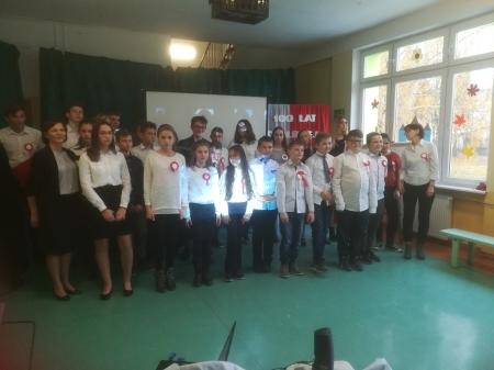 Apel z okazji 100 lecia Odzyskania Niepodległości przez Polskę dla klas stars