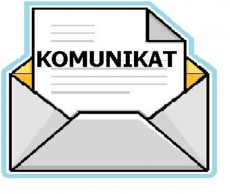Komunikat - 24 grudnia 2018r.